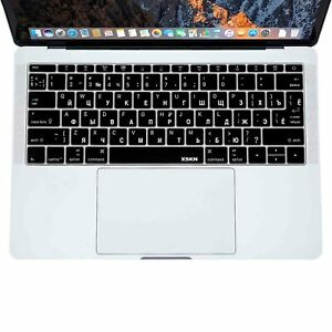 XSKN Russian Keyboard Cover for New Macbook Pro 13.3(A1708 )/Macbook 12(A1534)