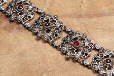 Trachten Armband Tracht Filigran 835 Silber böhmischer Granat tolles Design