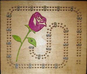Rose theme cribbage board