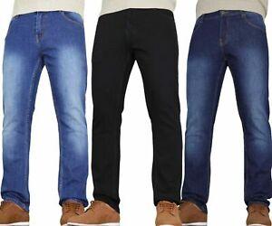 Mens Straight Bootcut Jeans Leg Regular Stretch Basic Denim Pants Special Offer
