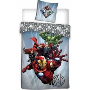 Avengers Bedding Single Reversible Cover & Pillow Duvet hulk ironman Thor Marvel