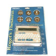 Seiko Roget's Thesaurus and Spell Checker Wp2260 Nip