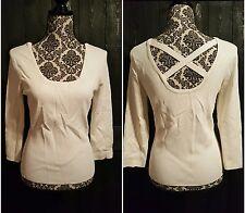 White House Black Market Top Womens Size XL White Knit Shirt Blouse New w/Tags