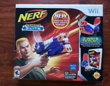 *NEW* Wii NERF N-Strike Elite Bundle - Game + Gun factory sealed