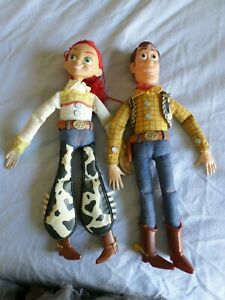 "Toy Story 1990's Pull String 15"" Jessie and 16"" Woody dolls"