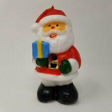 Vintage Novelty Figural Wax Candle Christmas Santa Decoration