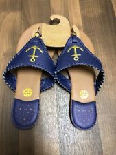 New Simply Southern Anchor Flip Flops Sandals Shoes Sz 8