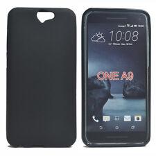 For HTC One A9 Black Matte TPU Gel Skin Case back cover