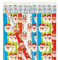 Pack of 12 - Christmas Theme Pencils - Party Bag Fillers