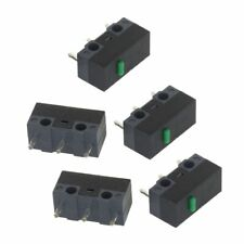 27d3ec53595 5Pcs Original HUANO Mouse Micro Switch Button Green Point Silver Alloy  Contacts