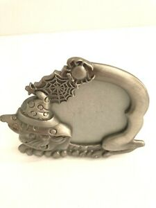 Halloween Pewter Cat Picture Frame