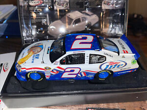 brad keselowski #2 Miller Lite Red, White , Blue 2012 charger Autographed B6