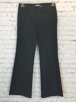 Womens Old Navy Size 4 Gray Stretch Rayon Blend Career Boot Cut Dress Pants