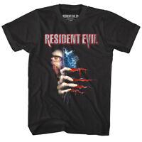 Resident Evil Men's T Shirt Zombie Peeking Eye Danger Gamer Capcom Black