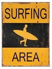 Surfing Area wooden sign beach ocean wood sea surfing gift 40cm x 30cm