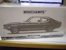 Minichamps 150089078 1:18 Ford Capri I RS 2600 1970 weiß/schwarz NEU OVP