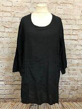 Moonshine Fashion Tunika 50%Leinen Shirt Lagenlook Übergröße 44 46 48 Neu schwar