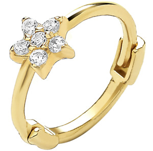 9ct Gold Earring Upper Ear Helix Cartilage Star Stone Set 9 CARAT YELLOW GOLD
