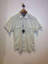 Lambretta Short Sleeve Shirt Striped/patern/light Grey Size M