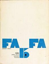 FARFA POETA RECORD NAZIONALE FUTURISTA - SABATELLI 1970