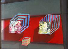 """Shahrokh Rezvani """"Paradox #2,"""" 1990, Mixed Media Color Monotype"""