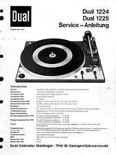 Dual manual de servicio para 1224/1225