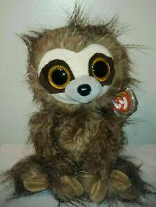 Ty Beanie Boos - SULLY the Long Hair Sloth (9-10 Inch Medium Buddy Plush) MWMT's