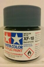 Tamiya acrylic paint XF-18 Medium blue 23ml Mini.