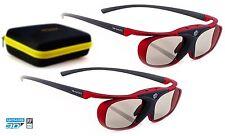 2x Hi-SHOCK® RF Pro 3D Brille Scarlet Heaven für RF Beamer Sony EPSON | Dualcase