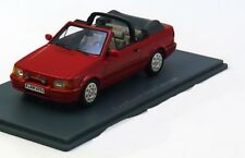 FORD ESCORT XR3I MKIV CABRIOLET RED 1988 NEO 44955 1/43 ROUGE ROSSO ROT RESINE