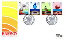25 de enero de 1978 la oficina de correos de energía primer día cubierta del Casco Norte Humberside Shs