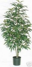 ARTIFICIAL GREEN  MANGO TREE SILK 5' HOME DECOR PLANT BUSH IN POT PATIO TROPICAL