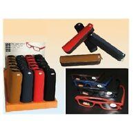 Designer Lesebrillen mit Etui Lesehilfe Brillen in Schwarz Braun Rot Blau (4013)