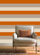 Crème, orange et moka rayures Papier Peint