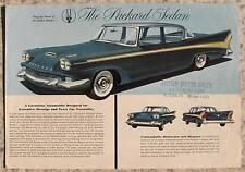 PACKARD SEDAN USA Car Specification Sheet 1958 #PD 8026
