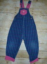 Vintage Oshkosh Bgosh Heart Girls Vestbak overalls Size 5 GUC