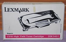 Genuine Lexmark 20K1401 Magenta High Yield Toner Cartridge For C510 - New Sealed