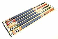 """SET OF 5 POOL CUES New 58"""" Canadian Maple Billiard Pool Cue Stick #6 FREE SHIP"""
