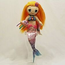 "FantaSea Friends Shellie Mermaid Doll Shelf Sitter by First & Main 18"" Plush Toy"