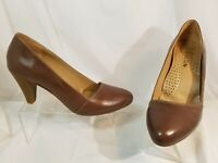 Women's Brown Leather Maldini Pumps Shoes Size 39 / US 8.5 M