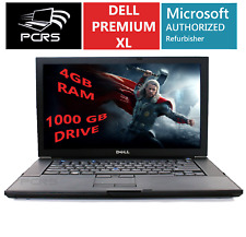 "DELL Latitiude 15.4"" HD Screen Laptop Intel 2.4GHz 4GB 1TB DVD+RW Windows 10"