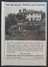 1928 Milbradt Power Lawn Mower Vintage Print Ad Photo Farm Machinery Agriculture