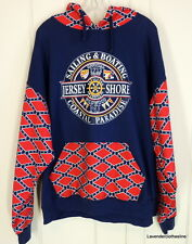 New York Area Code 212 Mens Hoodie Jersey Shore Sailing & Boating Sweatshirt 2XL
