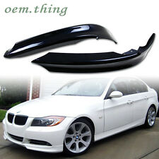 STOCK USA PAINTED BMW E90 3-Series OE Front Bumper Lip Splitter 06-08 #475