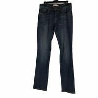 Levis 505 Womens Blue Straight Leg Mid Rise Stretch Denim Jeans Size 6 Large
