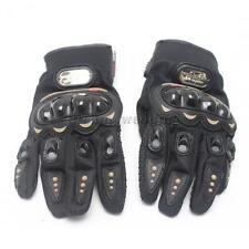 1 Paar Motorrad Motocross Handshuhe Netzgewebe Fingerhandschuhe Schwarz L