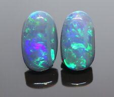 Lightning Ridge Black Opal 4.10ct Pair Australian Natural Stones