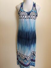 Jon & Anna NY Women's Sleeveless Maxi Dress Size Medium Blue Patterned New
