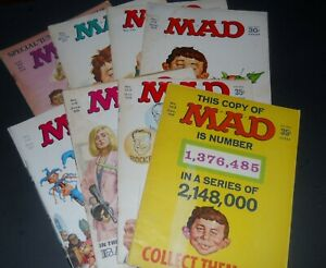 MAD MAGAZINE! LOT OF 8 LATE 1960'S! NOT BAD AT ALL!
