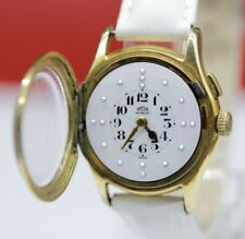 Vintage Swiss Wrist Watch for blind people ARSA Gold Plated Braille